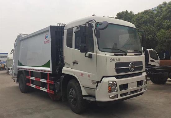 东风天锦压缩式垃圾车(12-15方)